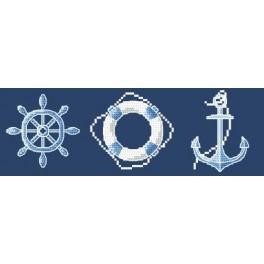 Z 8651 Zestaw z muliną - Marynarskie motywy