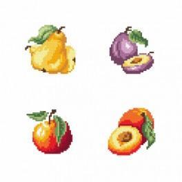 Zestaw z muliną - Na straganie - owoce