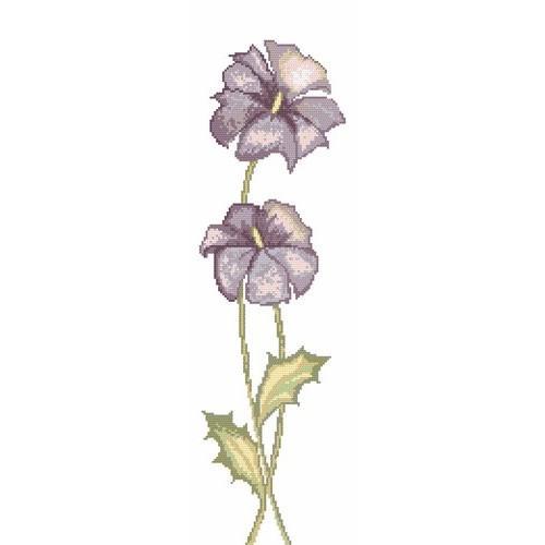 Z 898 Zestaw do haftu - Kwiaty fioletowe - A. Śliwa-Klara