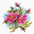 Zestaw z muliną - Kwiaty