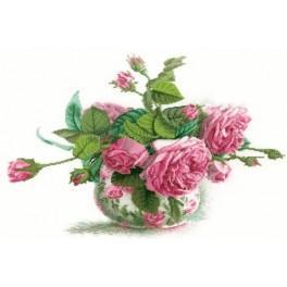 ZTM 202 Zestaw do haftu - Róże w wazonie