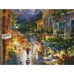 Zestaw z muliną - Deszczowa uliczka