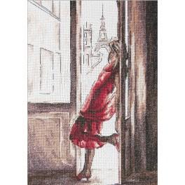 Zestaw z muliną - Dama w czerwieni