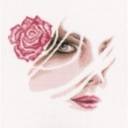 Zestaw z muliną - Koralowa róża