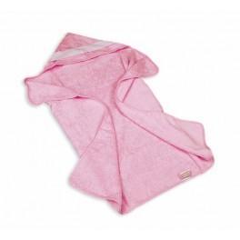 Ręcznik kąpielowy z kapturkiem 95x90 cm różowy