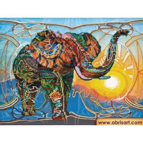 Zestaw z koralikami - Mozaikowy słoń