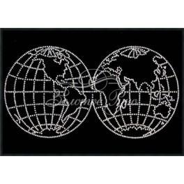 Zestaw z koralikami - Mapa Świata