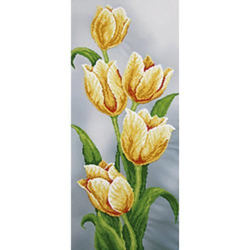 Zestaw z koralikami - Żółte tulipany