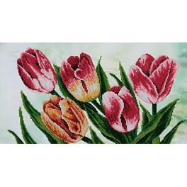 Zestaw z koralikami - Wiosenne tulipany