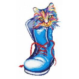 Zestaw z koralikami - Kot w butach