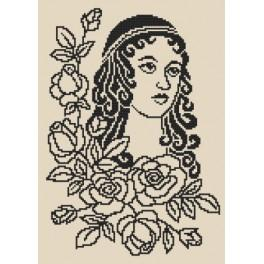 Zestaw z koralikami - Dama z różami