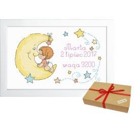 ZP 10072 Zestaw prezentowy - Metryczka dla dziewczynki