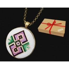 Zestaw prezentowy - Medalion - Dwa romby