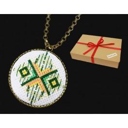Zestaw prezentowy - Medalion - Abstrakcja