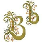 Zestaw z muliną, - Monogram B