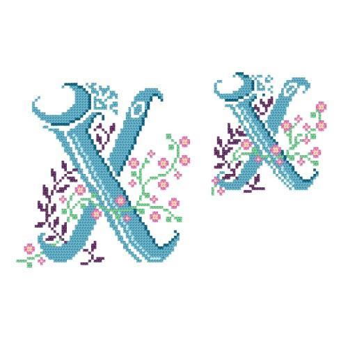 Zestaw z muliną, - Monogram X