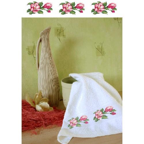 Zestaw z muliną i ręcznikiem - Ręcznik z magnoliami