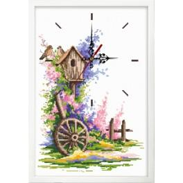 Zestaw z muliną, zegarem i ramką - Letni zegar