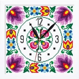 Zestaw z muliną, zegarem i ramką - Zegar etniczny