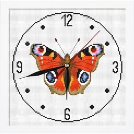 Zestaw z muliną, zegarem i ramką - Zegar z motylem