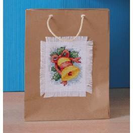Zestaw z muliną - Torebki dekoracyjne na prezenty - Dzwonek