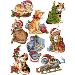 Zestaw z muliną - Ozdoby choinkowe - Świąteczne kociaki