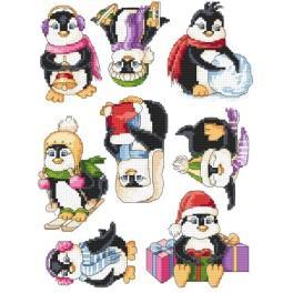 Zestaw z muliną - Zawieszki - Wesołe pingwinki