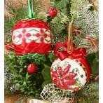 Zestaw z muliną - Bombki świąteczne z cekinami