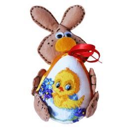 Zestaw z muliną - Zajączek z ozdobnym jajkiem