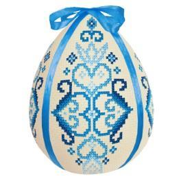 Zestaw z muliną - Pisanka - niebieska arabeska