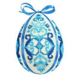 Zestaw z koralikami - Pisanka - niebieska arabeska