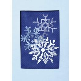 Zestaw z koralikami i kartką - Kartka świąteczna - Błyszczące śnieżynki