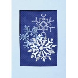 ZU 8405-05 Zestaw z koralikami - Kartka świąteczna - Błyszczące śnieżynki
