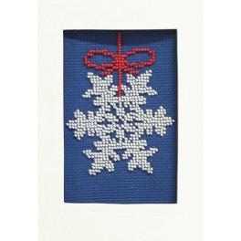 ZU 8405-03 Zestaw z koralikami - Kartka świąteczna - Śnieżynka
