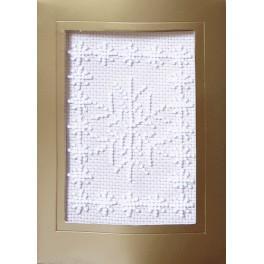 ZU 8405-04 Zestaw z koralikami i kartką - Kartka świąteczna - Śnieżynki