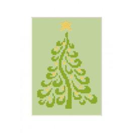 Zestaw z muliną - Kartka bożonarodzeniowa - Choinka