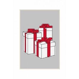 Zestaw z muliną - Kartka bożonarodzeniowa - Prezenciki