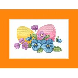 ZU 8625-02 Zestaw z muliną - Kartka wielkanocna - Wielkanocne jajka