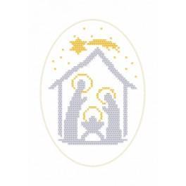 Zestaw z muliną - Kartka bożonarodzeniowa - Stajenka