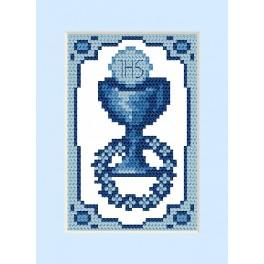 ZU 4658-01 Zestaw do haftu - Kartka komunijna