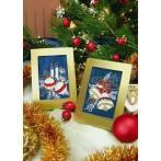 Zestaw z muliną - Kartka świąteczna - Świąteczne bombeczki