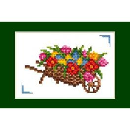 ZU 2055 Zestaw z muliną - Kartka wielkanocna - Wielkanoc
