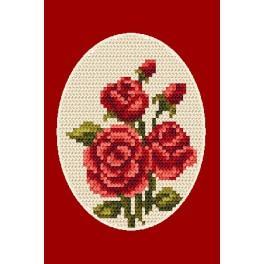Zestaw z muliną - Kartka okolicznościowa - Róże