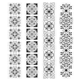 ZU 8609-01 Zestaw do haftu - Zakładki - Kunsztowne ornamenty I