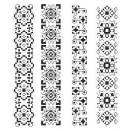 ZU 8609-02 Zestaw do haftu - Zakładki - Kunsztowne ornamenty II