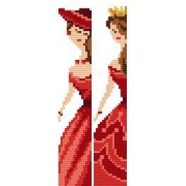 ZU 4408 Zestaw do haftu - Zakładki - Eleganckie kobiety