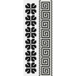 ZU 2296 Zestaw do haftu - Zakładki - Jednobarwne motywy