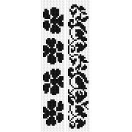 ZU 2298 Zestaw do haftu - Zakładki - Kompozycje roślinne