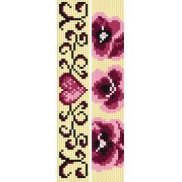 ZU 2292 Zestaw do haftu - Zakładki - Różowa miłość