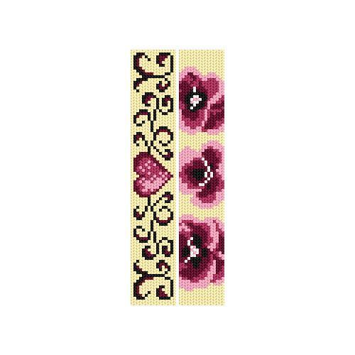 Zestaw z muliną - Zakładki - Różowa miłość